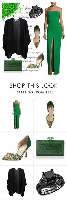 """""""Untitled #402"""" by jasminka-m ❤ liked on Polyvore featuring Solace, Manolo Blahnik and Kinross"""