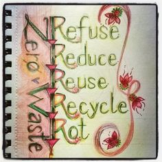 3. #dailysketch turned into #lettering inspired by #zerowaste movement ♻