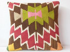 20 Handwoven Vintage Kilim Pillow Kilim Pillow Cover by DECOLIC.$75