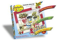 Das Fantastic Color Kennenlern-Set besteht aus sechs Falschen mit je 80 ml Inhalt und fünf Farben. Auf der Rückseite finden Sie weitere hilfreiche Tipps und Tricks. Mehr unter www.folia.de