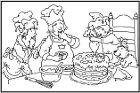 een taart voor kleine beer kleurplaat 74 best Feest Kleurplaten images on Pinterest | Coloring pages  een taart voor kleine beer kleurplaat
