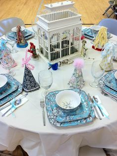 """Relief Society Birthday party table....  Get Relief Society Ideas at - www.MormonLink.com  """"I cannot believe how many LDS resources I found... It's about time someone thought of this!""""   - MormonLink.com"""