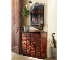 Andover Cabinet Weathered Red Finish Pottery Barn For The Home Art Pinterest And Houzz