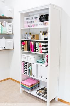 Office and Craft Room Makeover Office and Craft Room Makeove. - Office and Craft Room Makeover Office and Craft Room Makeover by Jennifer Evans - Study Room Decor, Cute Room Decor, Room Decor Bedroom, Bedroom Ideas, Craft Room Decor, Study Rooms, Home Decoration, Girls Bedroom, Wall Decor