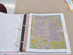 sample of page in anchor chart book-- A binder of anchor charts in the classroom for the little ones to refer to...