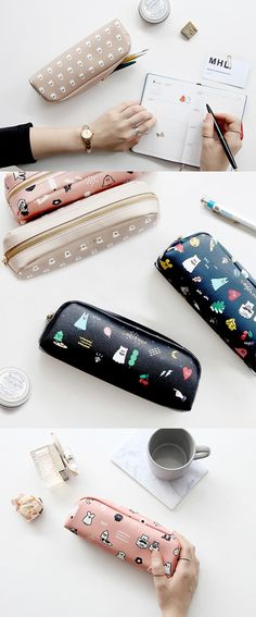 Carrying your favorite pens and pencils in this Small Ghost Pop Leather Pouch might be a fun way to get in the spirit of this year's Halloween! Cute illustration and convenient design is also a good reason to carry this pouch!