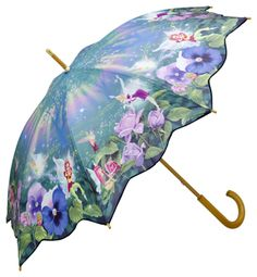 Fairies Art walking length umbrella from Brolliesgalore Lace Umbrella, Vintage Umbrella, Under My Umbrella, Cool Umbrellas, Umbrellas Parasols, Rainy Day Photography, White Photography, Singing In The Rain, Fairy Art