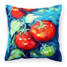 Caroline's Treasures Tomatoes Vegetables on the Vine Decorative Outdoor Pillow - MW1148PW1414