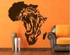Lion in Africa wall deco Afrika Tattoos, African Symbols, Creation Art, Africa Art, Tier Fotos, Arte Pop, Lion Tattoo, Beautiful Tattoos, Awesome Tattoos