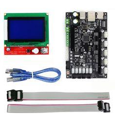 3D printer 32bit Arm platform Smooth control board MKS SBASE V1.3 +MKS 12864 LCD Display Blue Screen Module