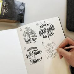 Hand Lettering Practice, Hand Lettering Quotes, Creative Lettering, Types Of Lettering, Typography Quotes, Typography Inspiration, Brush Lettering, Calligraphy Letters, Typography Letters