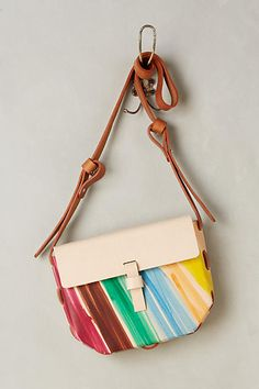 Painted Hex Crossbody Bag - anthropologie.com