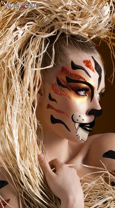 Tigress Face Kit, Costume Tiger Face, Tiger Body Stickers