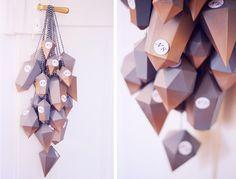 Noch so ein edles Stückchen! Adventskalender mit geometrischen Päckchen.
