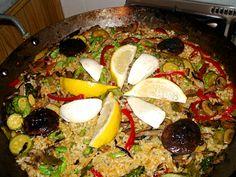 :: BALKIS :: As receitas vegetarianas de Márcia Micheli :: PAELLA VEGETARIANA COM QUEIJO LUNARELLA BALKIS