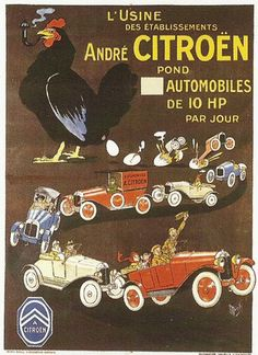 Affiches anciennes voitures