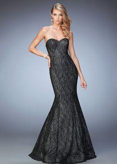 La Femme 22488 Shimmering Strapless Sweetheart Mermaid Gown