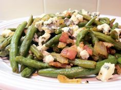 Low Carb Layla: Green Beans with Bacon and Blue Cheese #lowcarb