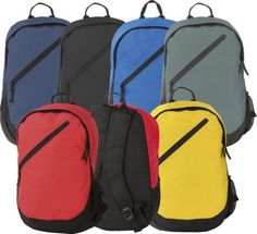 #PROMOTIONAL GIFT - SEVENOAKS PROMOTIONAL BACKPACK RUCKSACK 600d Polyester. Stylish, Promotional Backpack Rucksack Made From Reach Compliant 600d Polyester Complete with Zip Front Pocket. Available in Royal Blue, Black, Navy Blue, Red, Yellow, Graphite Grey.