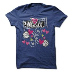 i love volleyball T-Shirts, Hoodies. CHECK PRICE ==► https://www.sunfrog.com/Sports/i-love-volleyball-43594384-Guys.html?id=41382
