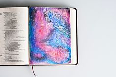 Bible Art Journaling by Tiffany Zajas @tiffanyzajas | Galaxy Technique Tutorial