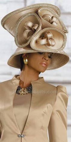 If you're looking for womens church hats or couture hats, this is the place to be! Our elegant ladies church hats have truly original details and design making each one unique. Funky Hats, Crazy Hats, Cool Hats, Women Church Suits, Fascinator Hats, Fascinators, Headpieces, Church Hats, Wearing A Hat