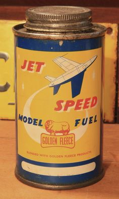 A hard to get Golden Fleece service station model plane fuel can