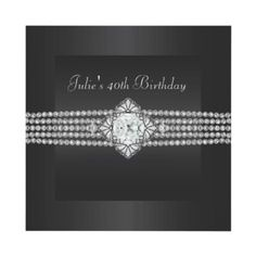 Black Diamond Womans 40th Birthday Party Invite from http://www.zazzle.com/elegant+birthday+invitations