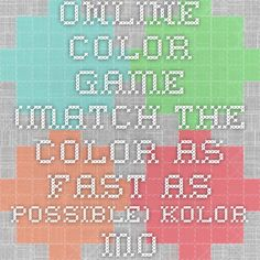 Online Color Game (match the color as fast as possible) kolor.moro.es