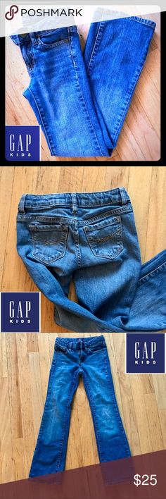 GAPKids Slim Bootcut Denim Jeans, Size 7 Adorable pair of GAPKids Slim Bootcut Jeans, Size 7, in excellent pre-owned condition! No signs of wear or use! Little girls look soooo cute in these jeans!! Thanks for shopping my Posh Closet!! GAP Bottoms Jeans