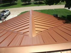 Our Steel Roof. Color: Copper Penny. Installed by Parraghi's Roofing and Sheet Metal, Croswell, Michigan