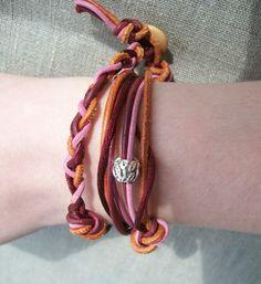 DIY tutorial:  leather bracelet