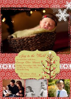 Christmas Baby Announcement Photo <3!!