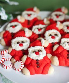 Roly Poly Santa Cookies