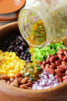 This post is sponsored by Bush's® Beans. This Mexican Bean Salad is full of protein-rich beans, colorful veggies, and a flavorful Mexican Bean Salad, Mexican Salads, Mexican Food Recipes, Vegetarian Recipes, Healthy Recipes, Bean Salad Recipes, Salad Dressing Recipes, Bean Salads, Taco Salads