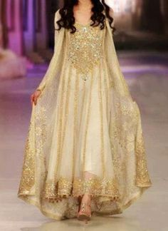 golden anarkali