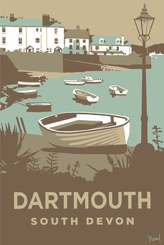 Dartmouth (SR10) Beach and Coastal Print http://www.thewhistlefish.com/product/dartmouth-print-by-steve-read-p-sr10 #dartmouth #devon
