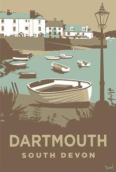 Dartmouth (SR10) Beach and Coastal Print http://www.thewhistlefish.com/product/dartmouth-print-by-steve-read-p-sr10 #dartmouth #devon