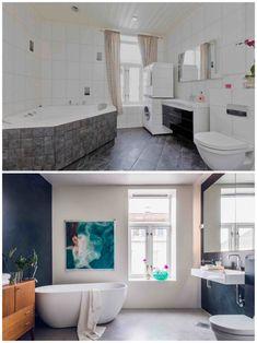 White Concrete, Bathroom Inspo, Architecture, House Plans, Bathtub, Cabinet, Storage, Interior, Design