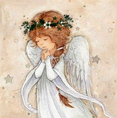 Angel Pictures, Art Pictures, Christmas Angels, Christmas Art, Watercolor Pencil Art, Angel Theme, Angel Artwork, Felt Angel, Christmas Paintings On Canvas