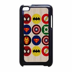 Superhero Logos 2 Ipod Touch 4 Case