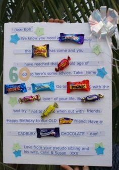 Retirement Candy Bar Story | Candy Bar Birthday Card | Happy Birthday Idea