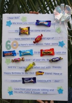 Retirement Candy Bar Story | Candy Bar Birthday Card | Happy Birthday Idea