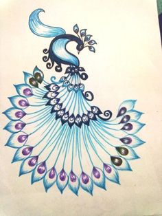 Image result for how to make peacock drawing