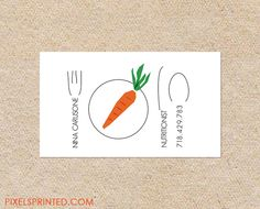 nutritionist business cards, personal chef business cards