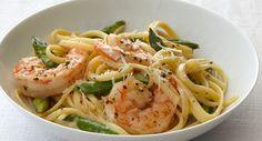 Creamy Linguine with Shrimp and Asparagus Recipe | McCormick Gourmet Gourmet