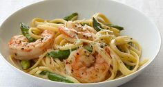 Creamy Linguine with Shrimp and Asparagus Recipe | McCormick Gourmet Gourmet