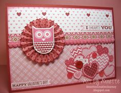 Annette's Creative Journey: Whooo's Your Valentine 5 x 7 Card
