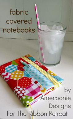 Ameroonie Designs: Fabric covered notebooks
