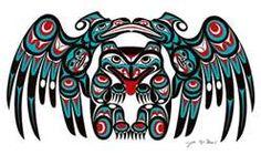 Coast Salish Bear and Two Ravens Art Card- Joe Wilson